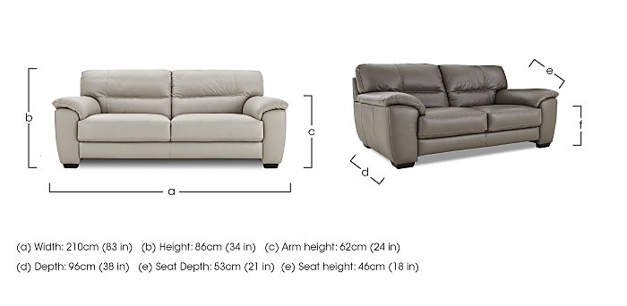 Shades 3 Seater Leather Sofa in  on FV