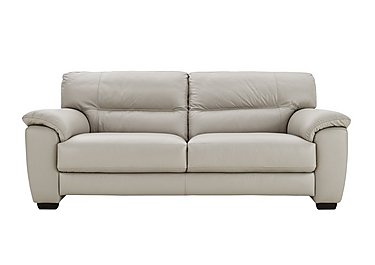 Shades 3 Seater Leather Sofa in Bv-946b Silver Grey on FV
