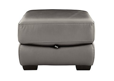 Shades Leather Storage Footstool in Bv-042e Elephant on FV