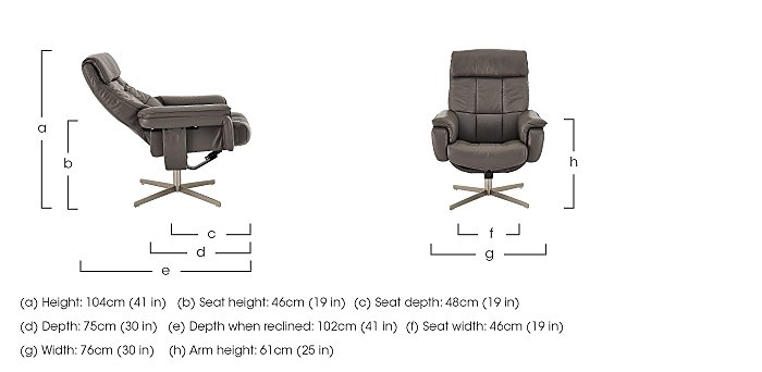 Shades Leather Swivel Armchair  in {$variationvalue}  on FV
