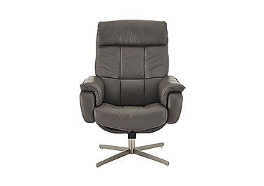 Shades Leather Swivel Armchair in Bv-042e Elephant on FV