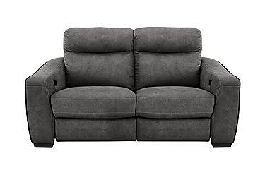 Cressida 2 Seater Fabric Recliner Sofa in Bfa-Raf-R16 Dark Grey on FV