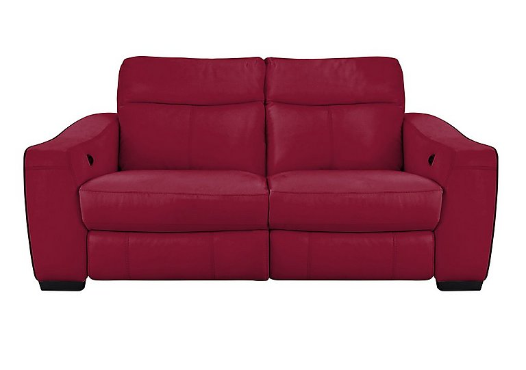 Cressida 3 Seater Leather Sofabed In Bv 035c Deep Red On FV