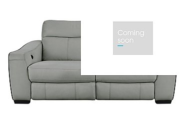 Cressida 3 Seater Leather Sofabed in Bv-946b Silver Grey on FV