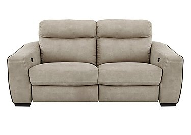 Cressida 3 Seater Fabric Recliner Sofa in Bfa-Blj-R946 Silver Grey on FV