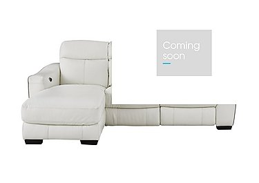 Cressida Leather Recliner Chaise Sofa in Bv-744d Star White on FV