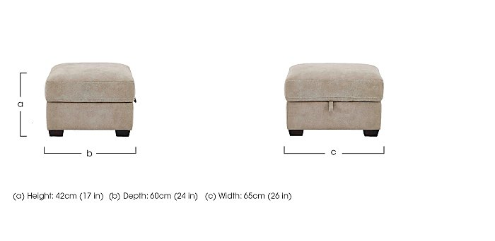 Cressida Fabric Storage Footstool in  on FV
