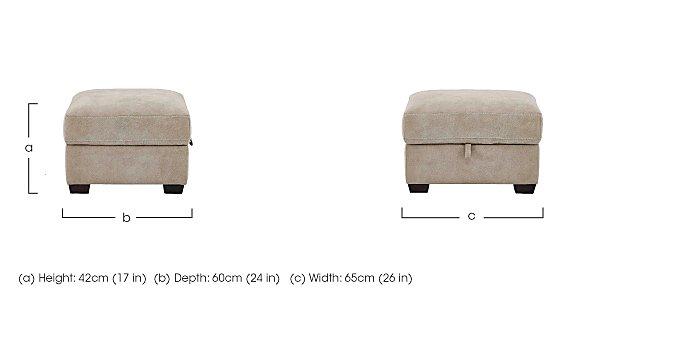 Cressida Fabric Storage Footstool in  on Furniture Village