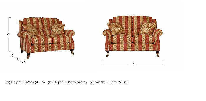 Henley 2 Seater Fabric Sofa in  on FV