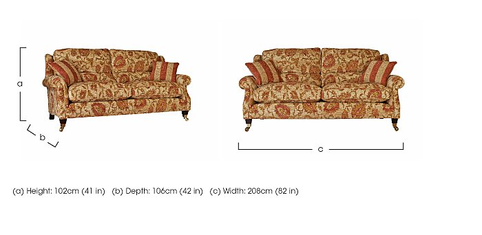 Henley Large 2 Seater Fabric Sofa in  on FV