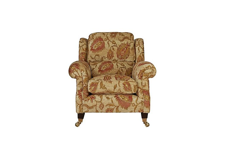 Henley Fabric Armchair in 002266-0054 Cuba Floral Sand on FV