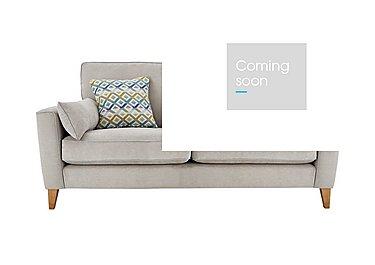 Copenhagen 3 Seater Fabric Sofa in Graceland Silver Light Ft Col2 on FV