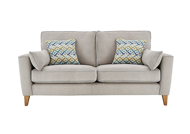 Copenhagen 3 Seater Fabric Sofa in Graceland Silver Light Ft Col2 on Furniture Village