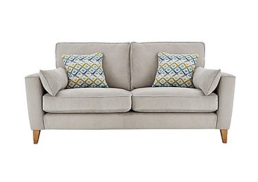 Copenhagen 3 Seater Fabric Sofa in Graceland Silver Light Ft Col2 on FV