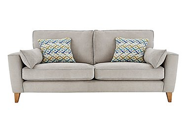 Copenhagen 4 Seater Fabric Sofa in Graceland Silver Light Ft Col2 on FV