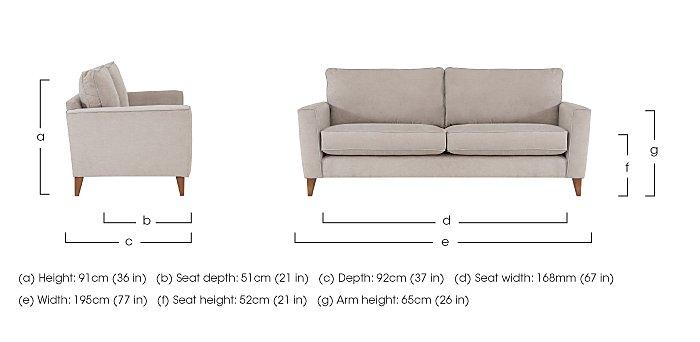 Copenhagen 4 Seater Fabric Sofa in  on FV