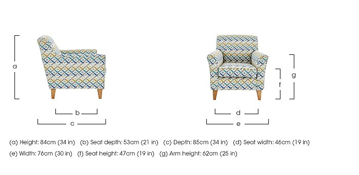 Copenhagen Fabric Accent Armchair in  on FV