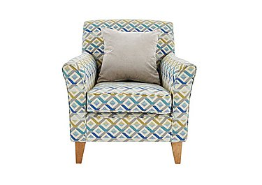 Copenhagen Fabric Accent Armchair in Midori Teal Light Feet Col 2 on FV