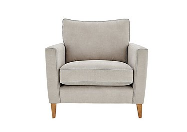 Copenhagen Fabric Armchair in Graceland Silver Light Ft Col2 on FV