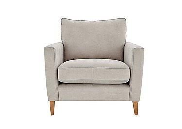 Copenhagen Fabric Armchair in Graceland Silver Light Ft Col2 on Furniture Village