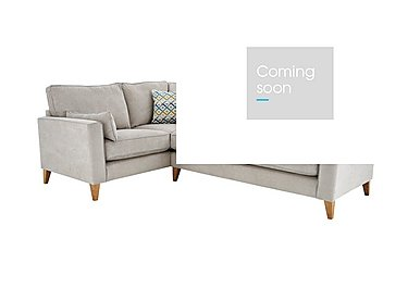 Copenhagen Fabric Corner Sofa in Graceland Silver Light Ft Col2 on FV