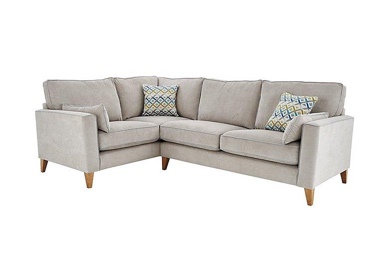 Copenhagen Fabric Corner Sofa in Graceland Silver Light Ft Col2 on FV