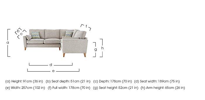 Copenhagen Fabric Corner Sofa in  on FV