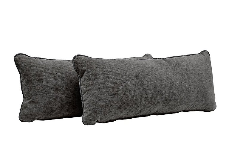Copenhagen Pair of Bolster Cushions in Graceland Graphite Scatts Only on FV