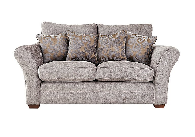 Hampstead 2 Seater Fabric Sofa in Ollie Ash Dark Feet Col 3 on FV