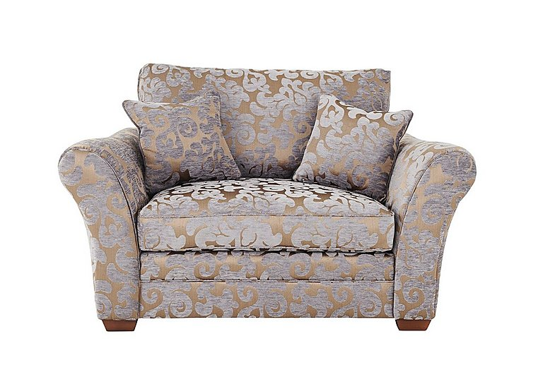 Hampstead Fabric Love Seat in Maddy Lavender Dark Feet Col 3 on FV