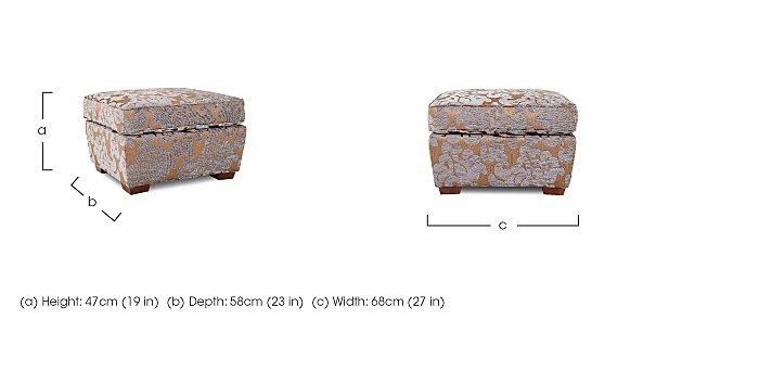 Hampstead Fabric Storage Footstool  in {$variationvalue}  on FV
