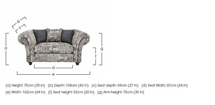 Isabel Fabric Snuggler Chair