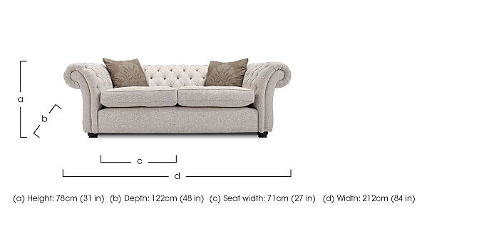 Langham Place 2 Seater Fabric Sofa in  on FV