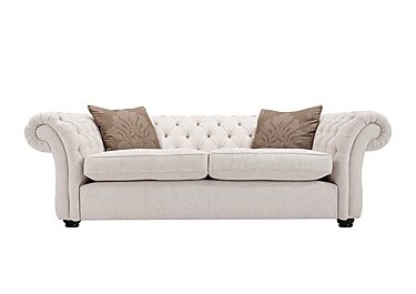 Langham Place 2 Seater Fabric Sofa in Layton Ivory  Dark Feet Col 1 on Furniture Village
