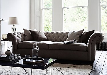 Langham Place 3 Seater Fabric Sofa in  on FV