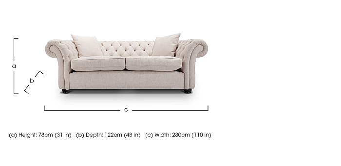 Langham Place 4 Seater Fabric Sofa in  on FV