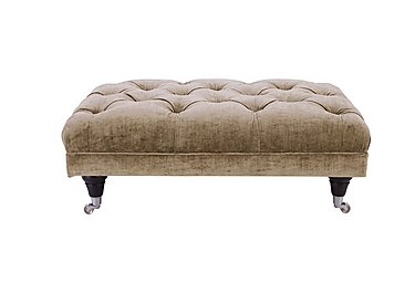 Langham Place Fabric Footstool in Modena Latte  Dark Feet Col 1 on Furniture Village