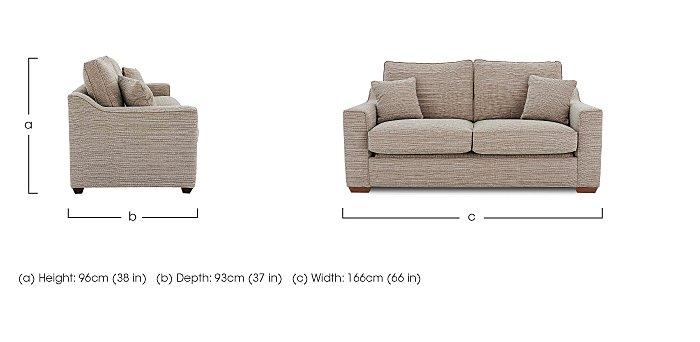 Las Vegas 2 Seater Fabric Sofa in  on FV