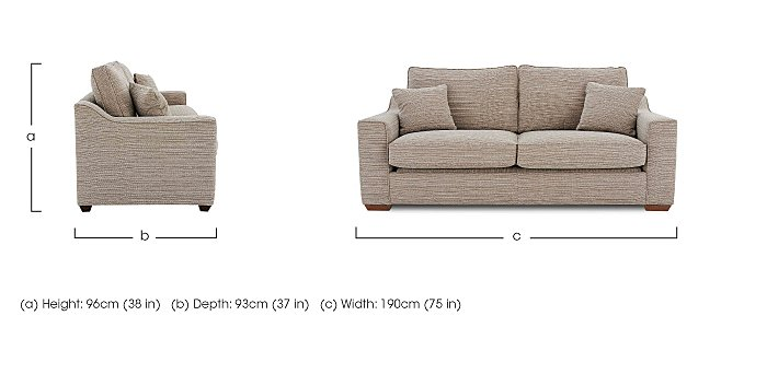 Las Vegas 3 Seater Fabric Sofa in  on FV
