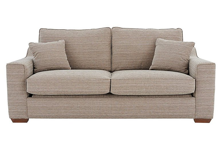 Las Vegas 3 Seater Fabric Sofa in Russon Pebble - Light Ft Col 2 on FV