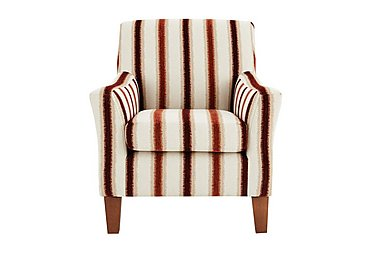 Las Vegas Fabric Accent Chair in Toledo Stripe Cranberry- Light on FV