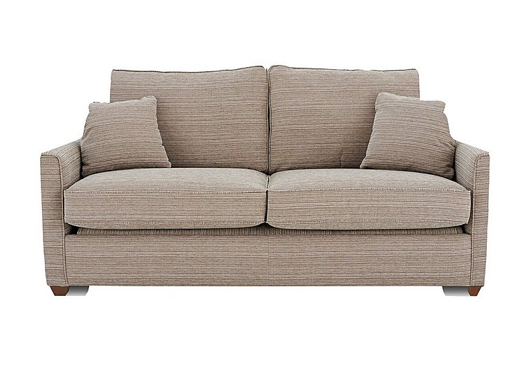 Las Vegas 3 Seater Fabric Sofa Bed in Russon Pebble - Light Ft Col 2 on FV