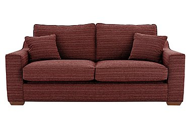 Las Vegas 3 Seater Fabric Sofa Bed in Russon Crimson - Light Ft Col2 on Furniture Village