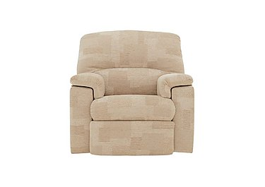 Chloe Fabric Recliner Armchair in C020 Checkers Oyster on FV