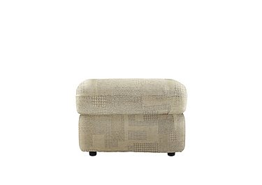 Chloe Fabric Footstool in B431 Lydia Linen on FV