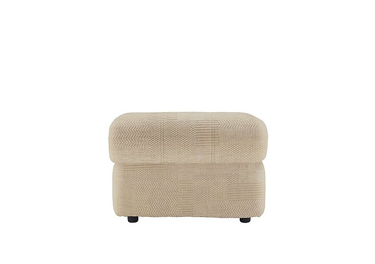 Chloe Fabric Footstool in C020 Checkers Oyster on FV