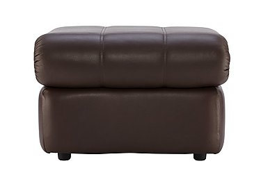 Chloe Leather Footstool in P200 Capri Chocolate on FV