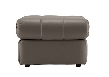 Chloe Leather Footstool in P219 Capri Putty on FV