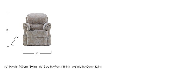 Florence Fabric Lift and Rise Armchair in  on Furniture Village