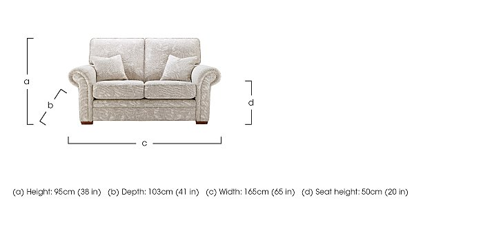 Jasmine 2 Seater Fabric Sofa in  on FV